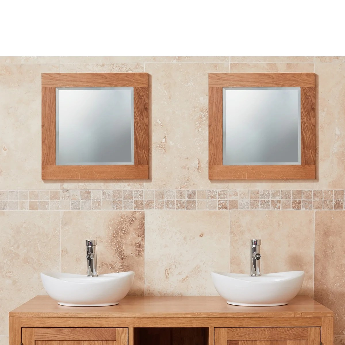 Small Bathroom Mirrors Uk Mobel Oak Small Bathroom Mirror Was £119.00 Now £89.00