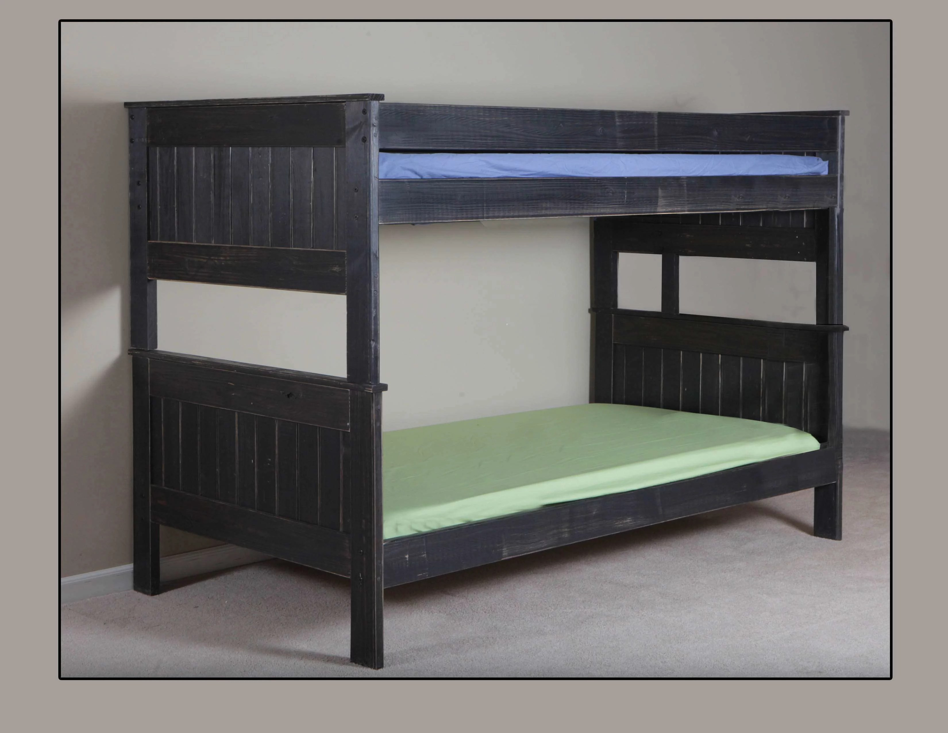Stackable Twin Beds Chelsea Home Distressed Black Twin Over Twin Stackable Bunk Bed Reviews Goedekers