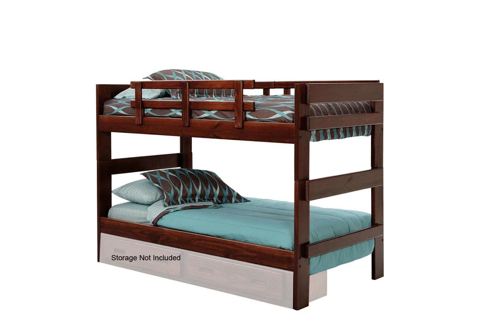 Stackable Twin Beds Chelsea Home Dark Twin Over Twin Stackable Bunk Bed Reviews Goedekers