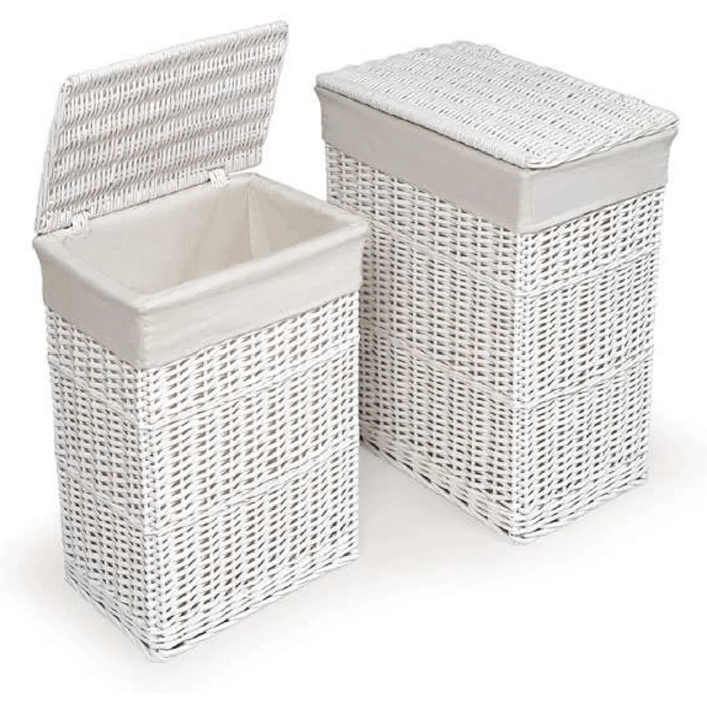 White Hamper With Liner Badger Basket White Two Hamper Set With Liners And Reviews