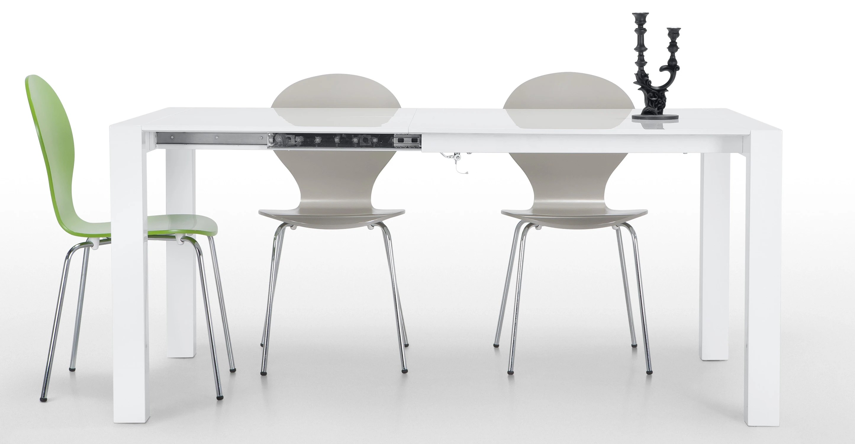 Esstisch Ausziehbar Design Bramante Extendable Square Dining Table In White | Made.com