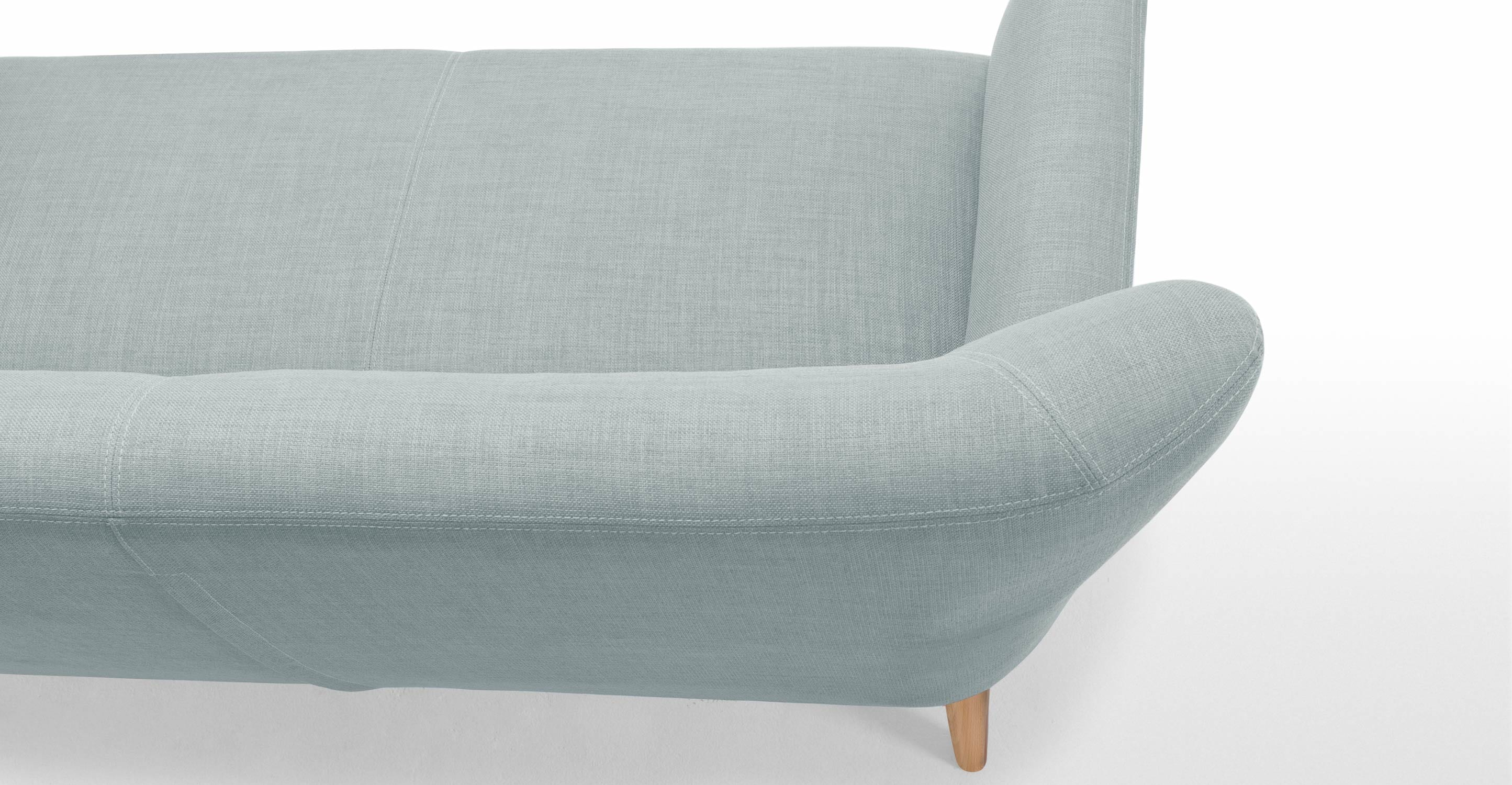 Made Quentin Sofa Quentin 2-sitzer-sofa In Eisblau | Made.com