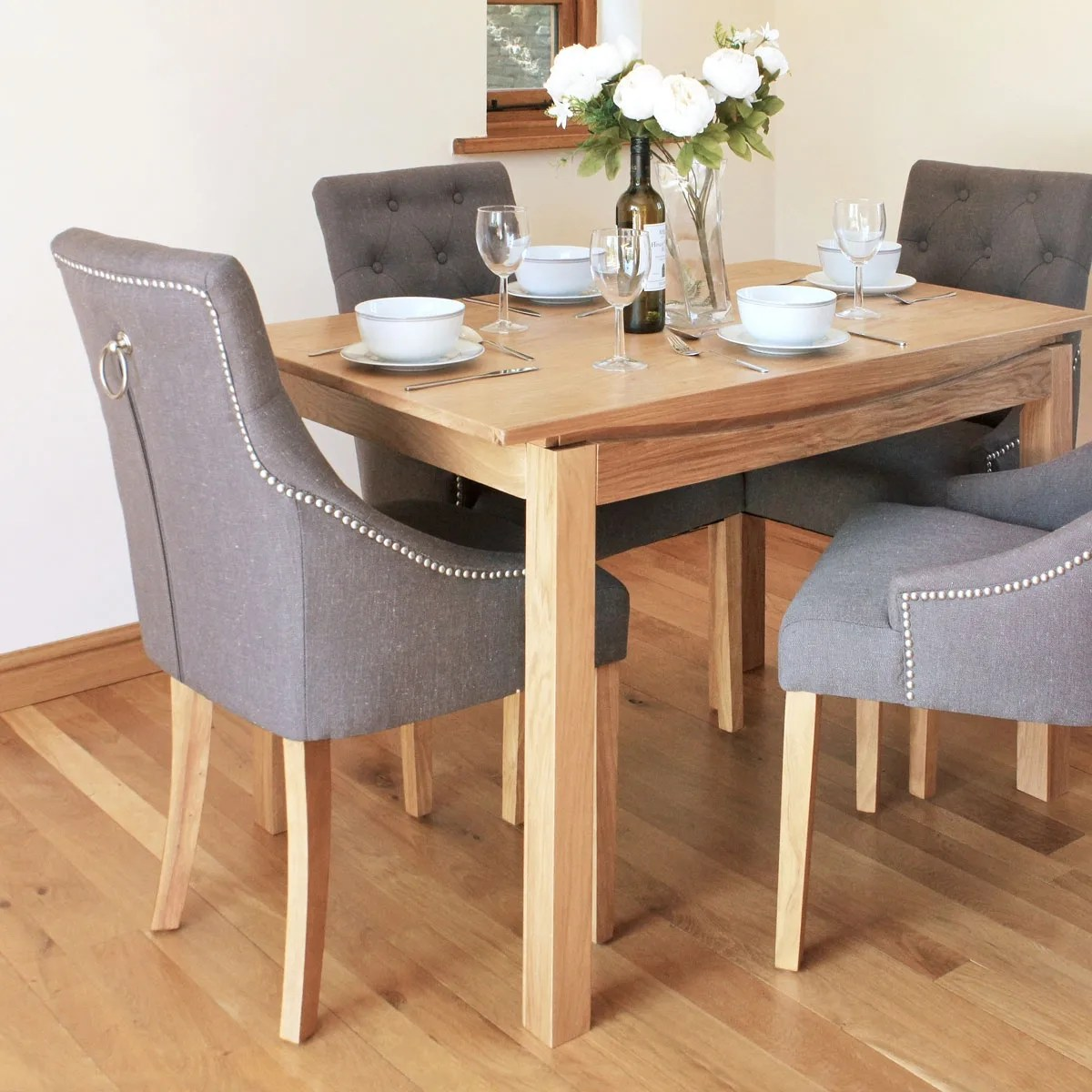 Modern Small Dining Tables Roscoe Contemporary Oak Small Dining Table Was 375 00 Now