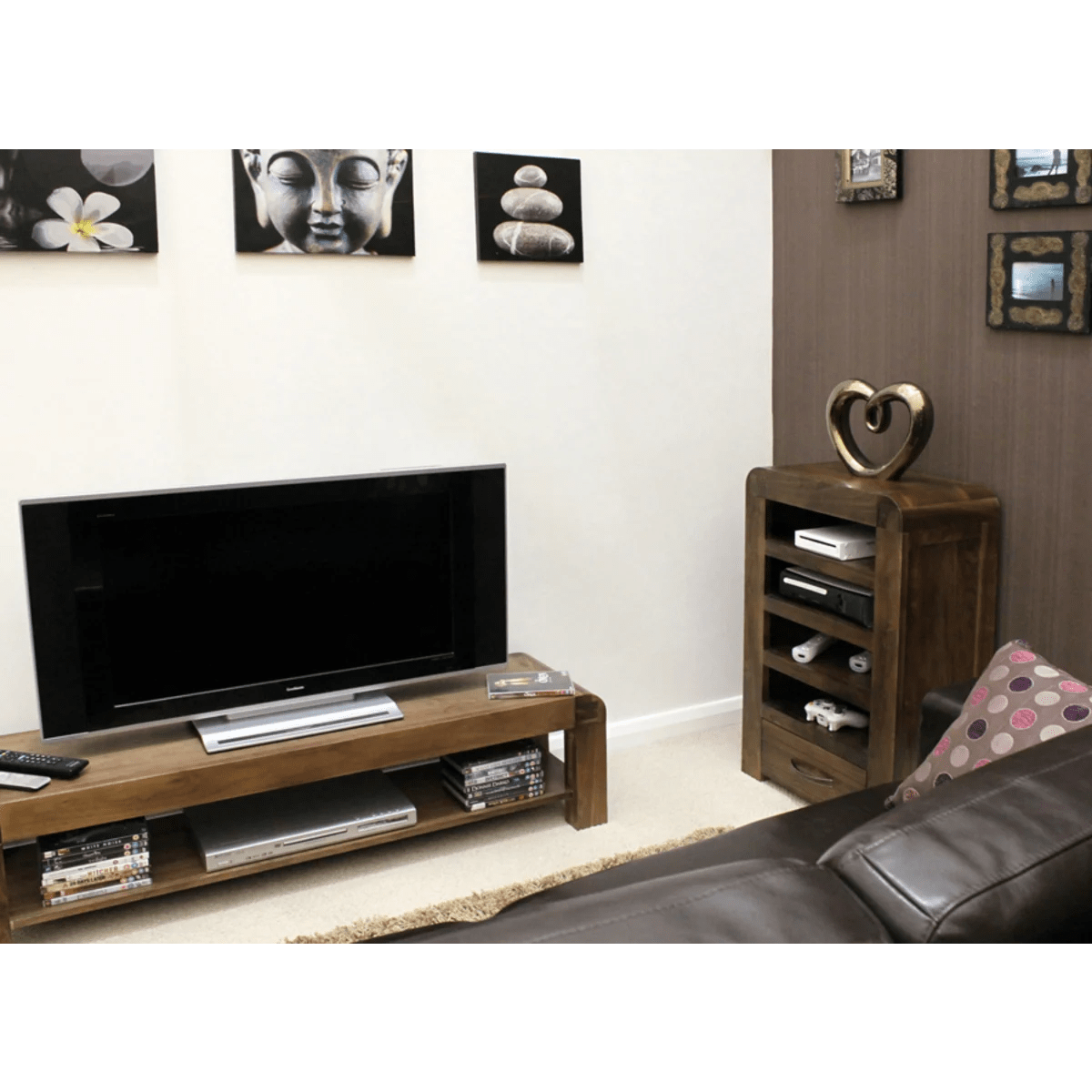 Entertainment Units Online Buy Shiro Walnut Home Entertainment Unit Online At Wooden