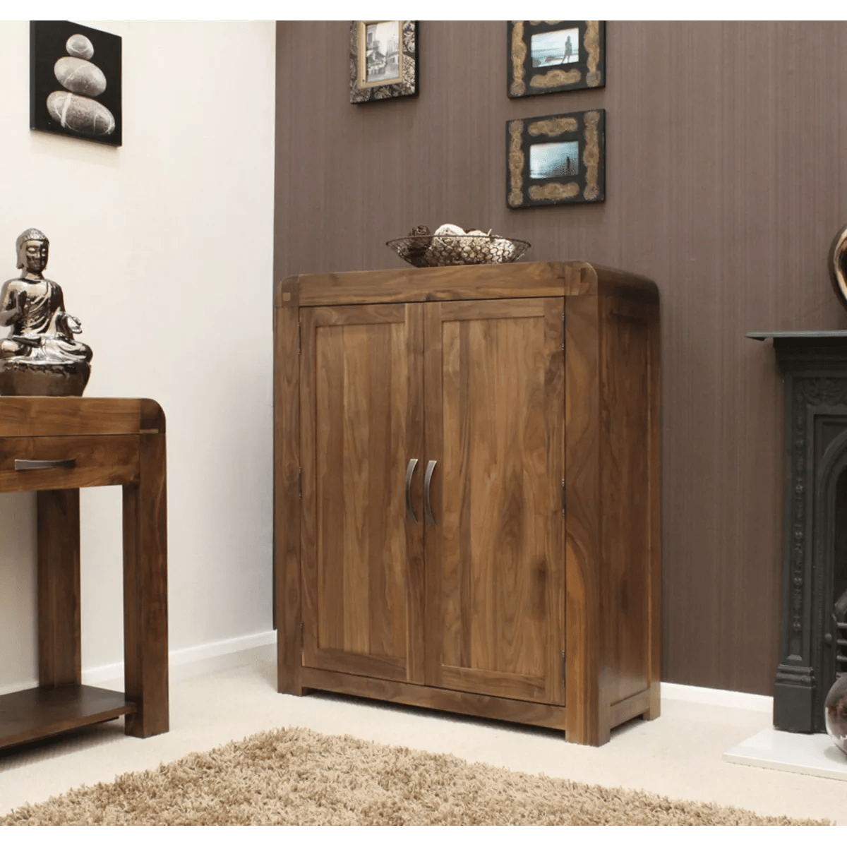 Buy Cupboard Buy Shiro Walnut Shoe Cupboard Online At Wooden Furniture
