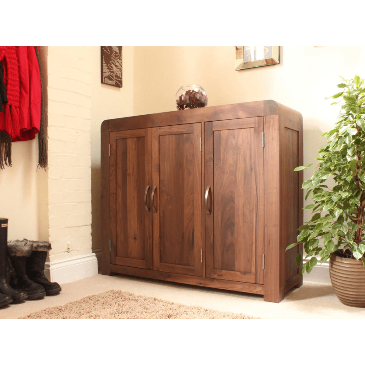 Buy Cupboard Buy Shiro Walnut Extra Large Shoe Cupboard Online At