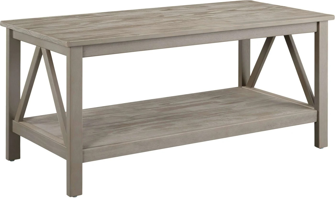 Rustic Beach Coffee Table Linon Home Decor Products Inc Titian Rustic Gray Coffee