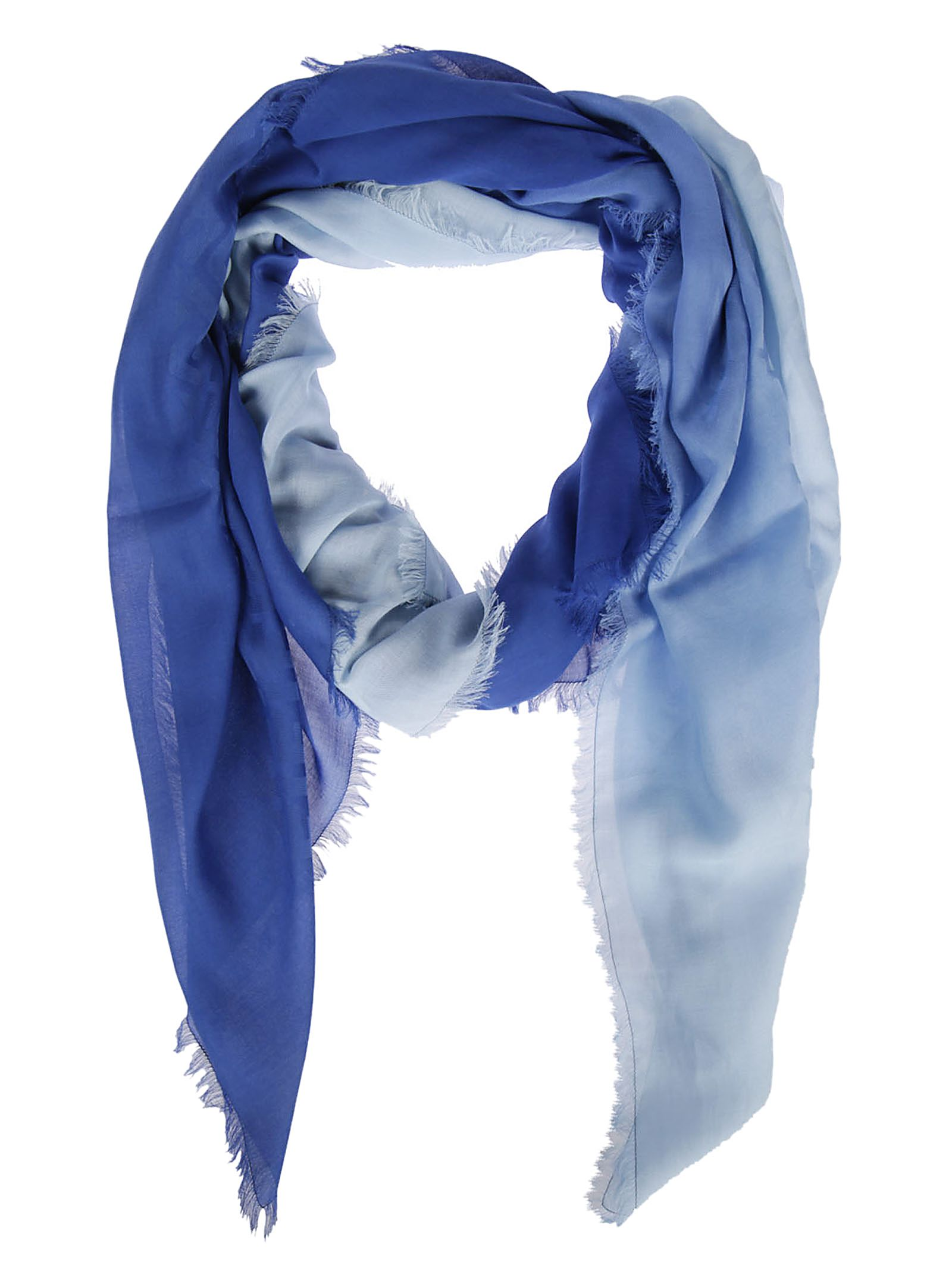 Scarves With Company Logo Fendi Ff Logo Shawl Blue 5907388 Italist