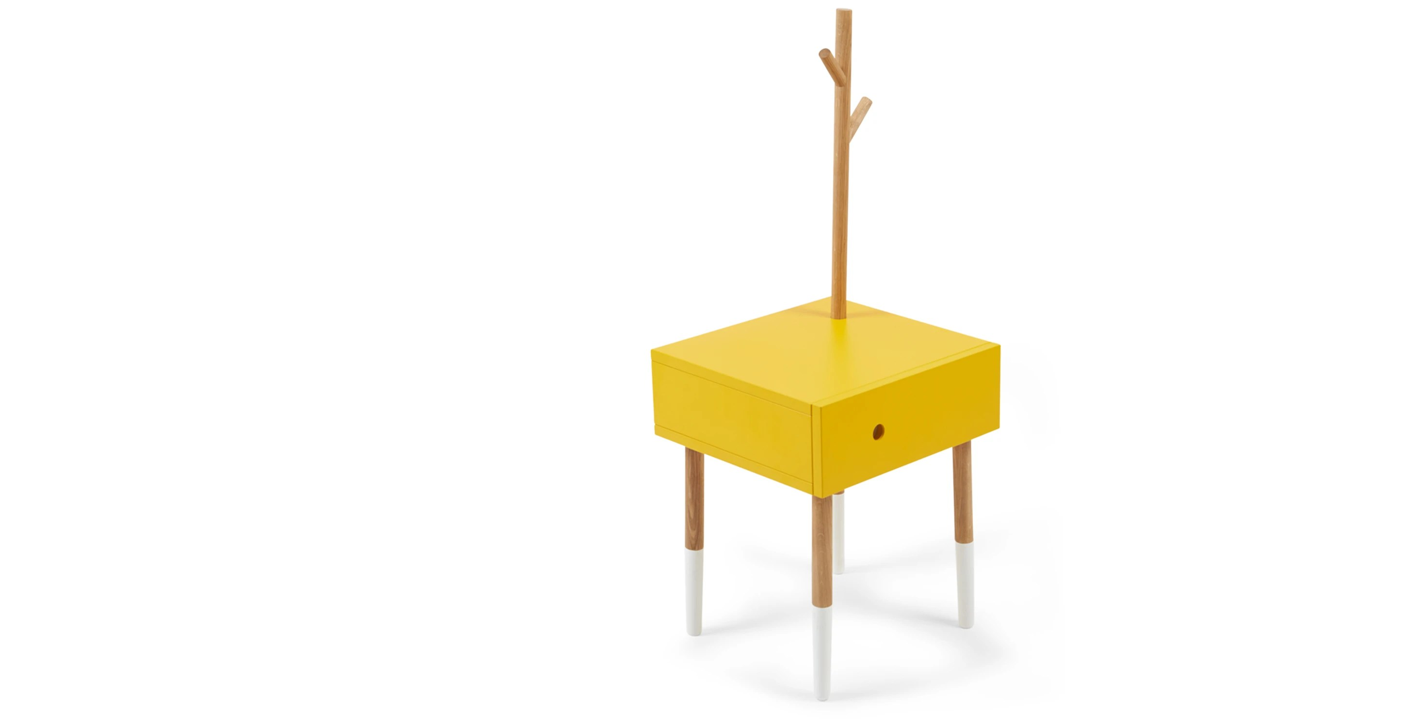 Bijzettafel Geel Twig Side Table Yellow And Oak Made