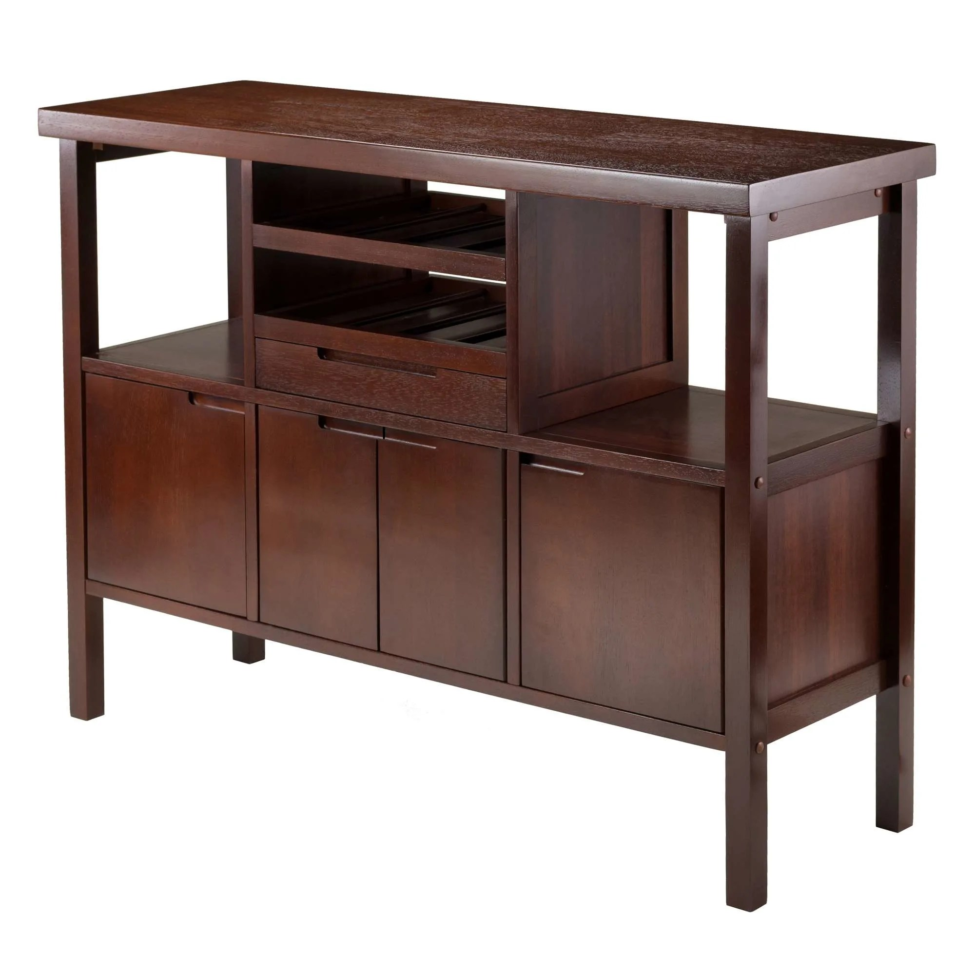 Buffet Sideboard With Wine Rack Winsome Wood 94746
