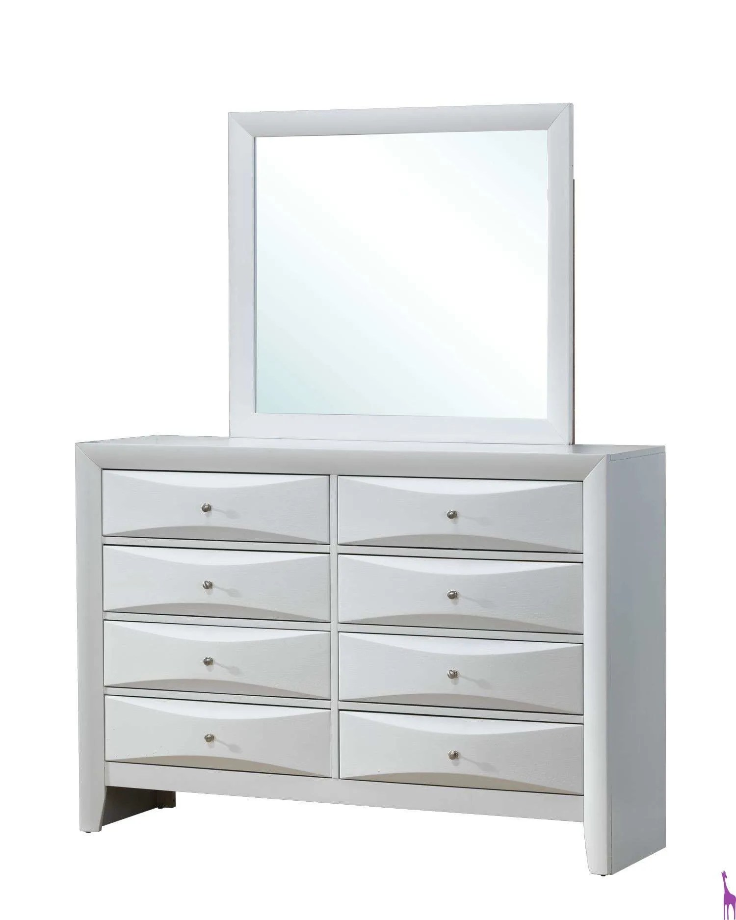 White 8 Drawer Dresser Glory White 8 Drawer Dresser And Mirror Set Reviews Goedekers