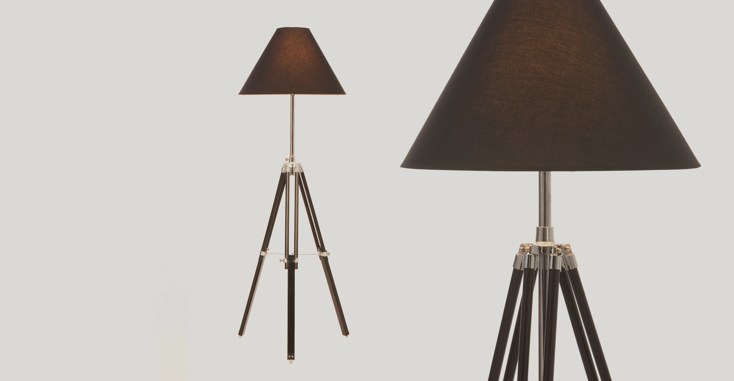 Floor Standing Tripod Lamp Tripod Floor Lamp The Navy Available In Black Made
