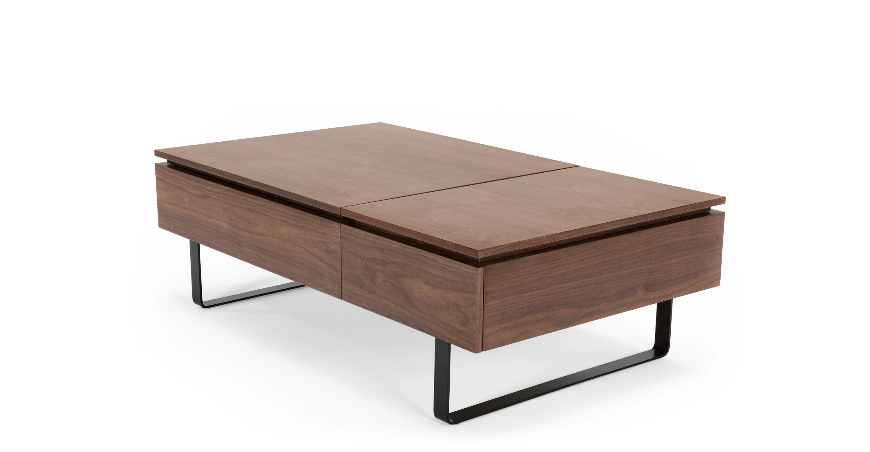 Couchtisch Flippa Flippa Functional Coffee Table With Storage, Walnut | Made.com