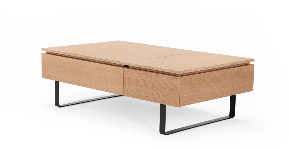 Couchtisch Flippa Flippa Functional Coffee Table With Storage, Oak | Made.com