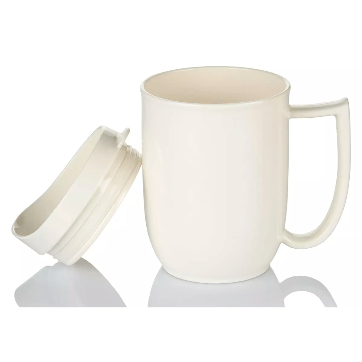 Large Handle Mugs Unbreakable Mug With Feeder Lid And Large Handle For