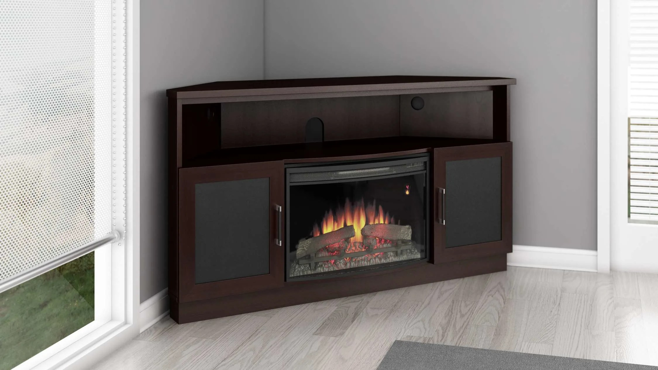 Curved Electric Fireplace Furnitech Ft60cccfb
