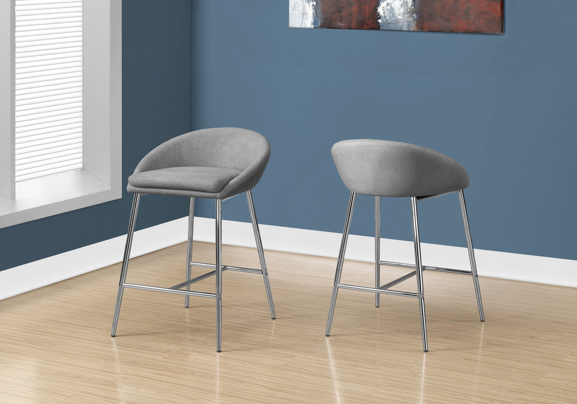 Fabric Counter Height Bar Stools Monarch Specialties I 2298