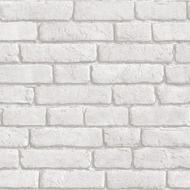 Muriva Brick 3d Effect Wallpaper In White J30309 Brick Wallpaper Brick Effect Wallpaper Grey Brick