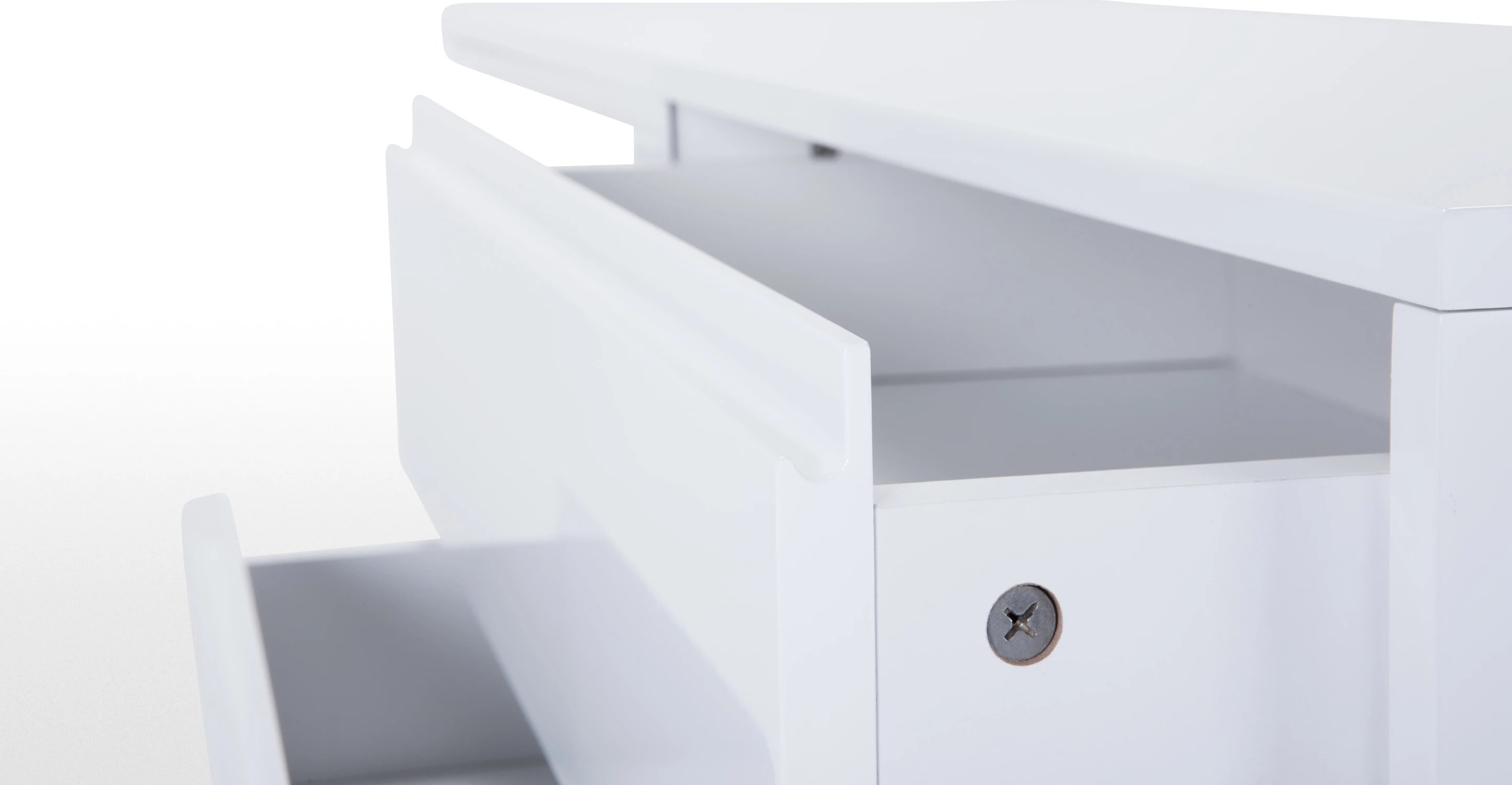 White Gloss Drawers Elona Wide Chest Of Drawers White Gloss Made