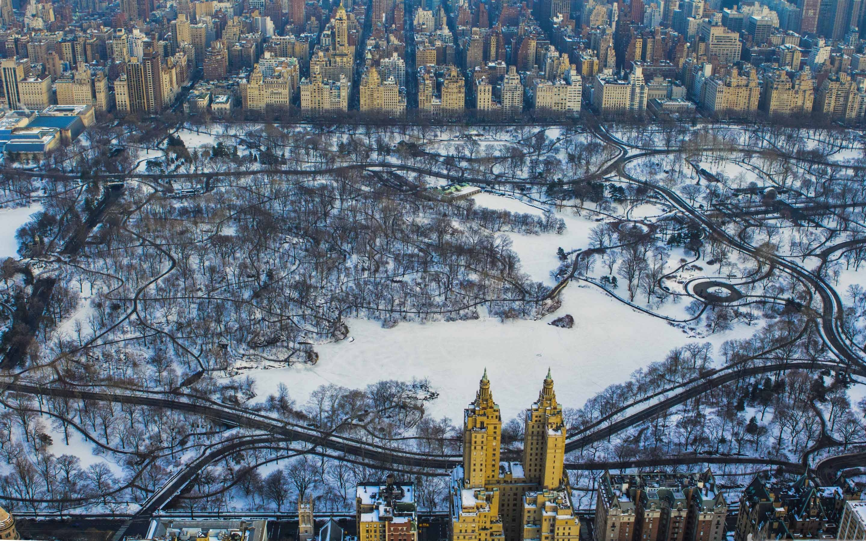 Cool Iphone 7 Wallpapers Central Park Winter Aerial Mac Wallpaper Download Free