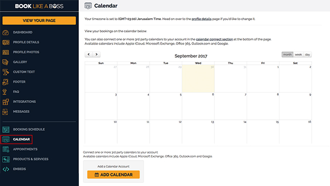 Integrate Google Calendar with Book Like A Boss