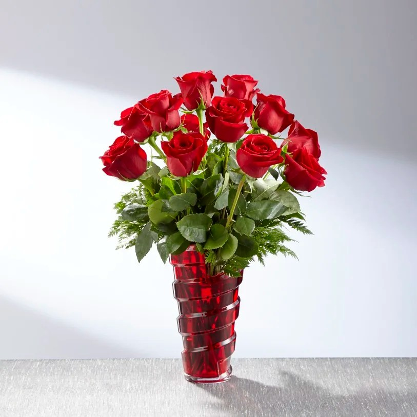 The FTD® In Love with Red Roses™ Bouquet - 18-V1Rs in Chester