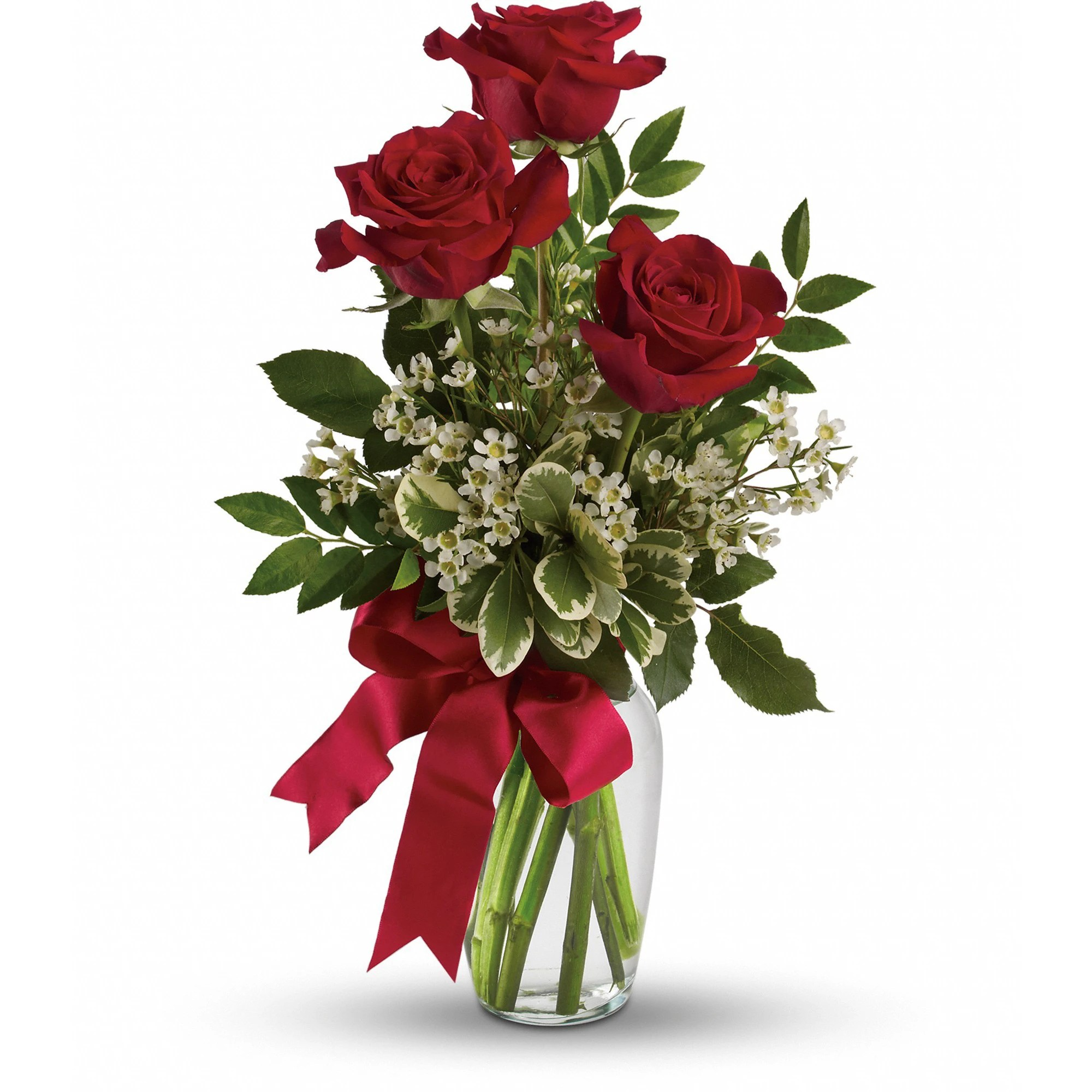 Rose Thoughts Of You Bouquet With Red Roses Tev12 6a In Bensalem Pa Flower Girl Florist