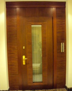 leather and wood door panel wenge nurcbe In House Cut & Paste cabinet Refacing Projects...