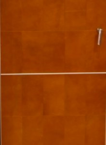 cabinet door terraccotta leather panel jt0gbp In House Cut & Paste cabinet Refacing Projects...