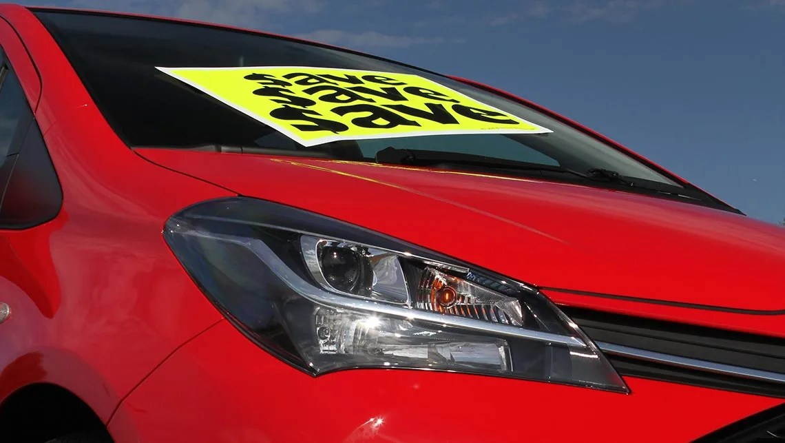Tax breaks and low interest rates drive June new-car sales - Car - print for sale sign for car