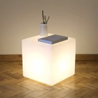 Cube Floor Lamp/Side Table Cube Lit Table by One Foot Taller
