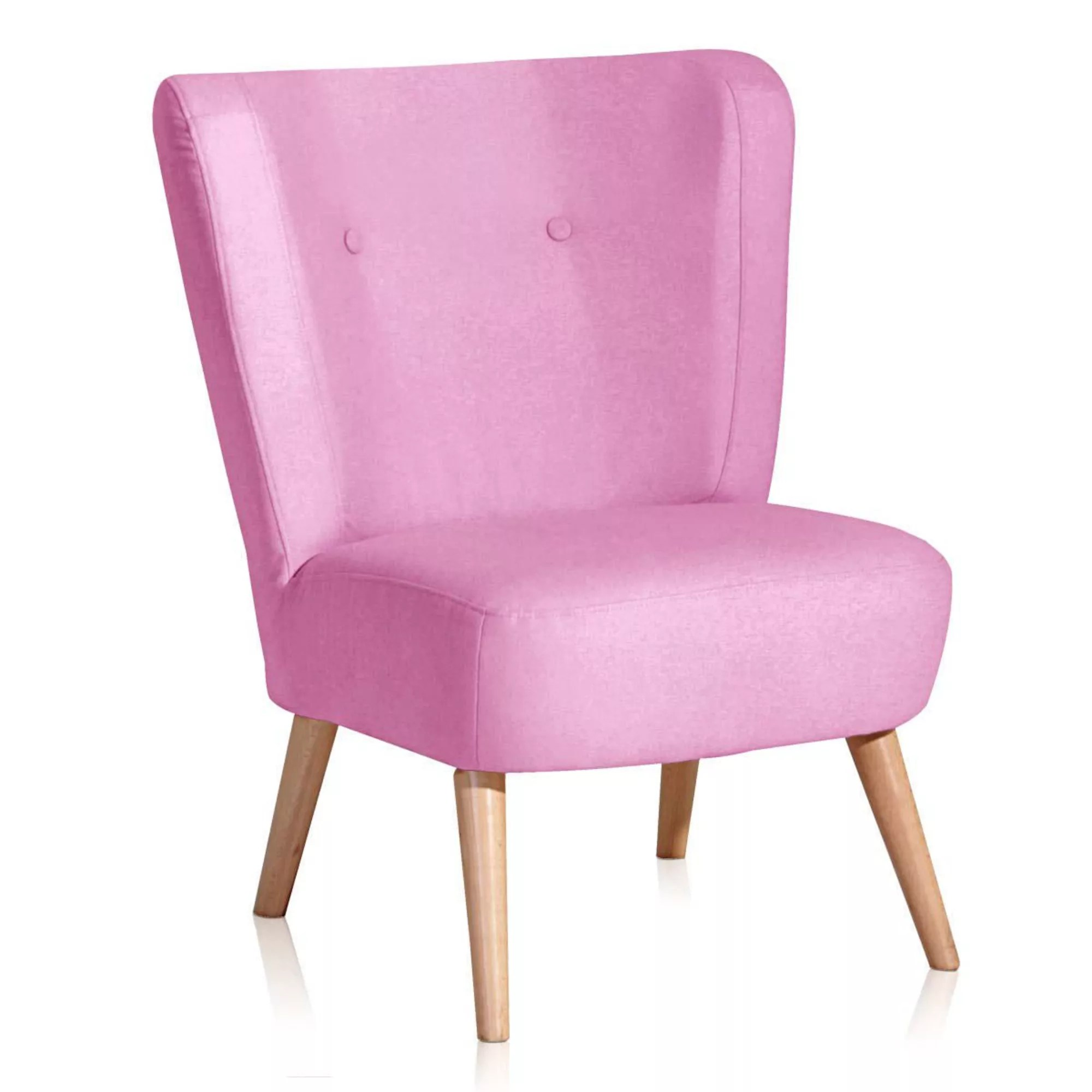 Pinker Sessel Sessel Pink Ohrensessel Velours Ros Winchester Wohnzimmer Tv With