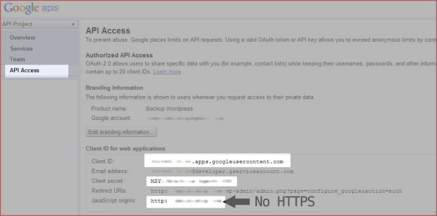 Configurar API de Google
