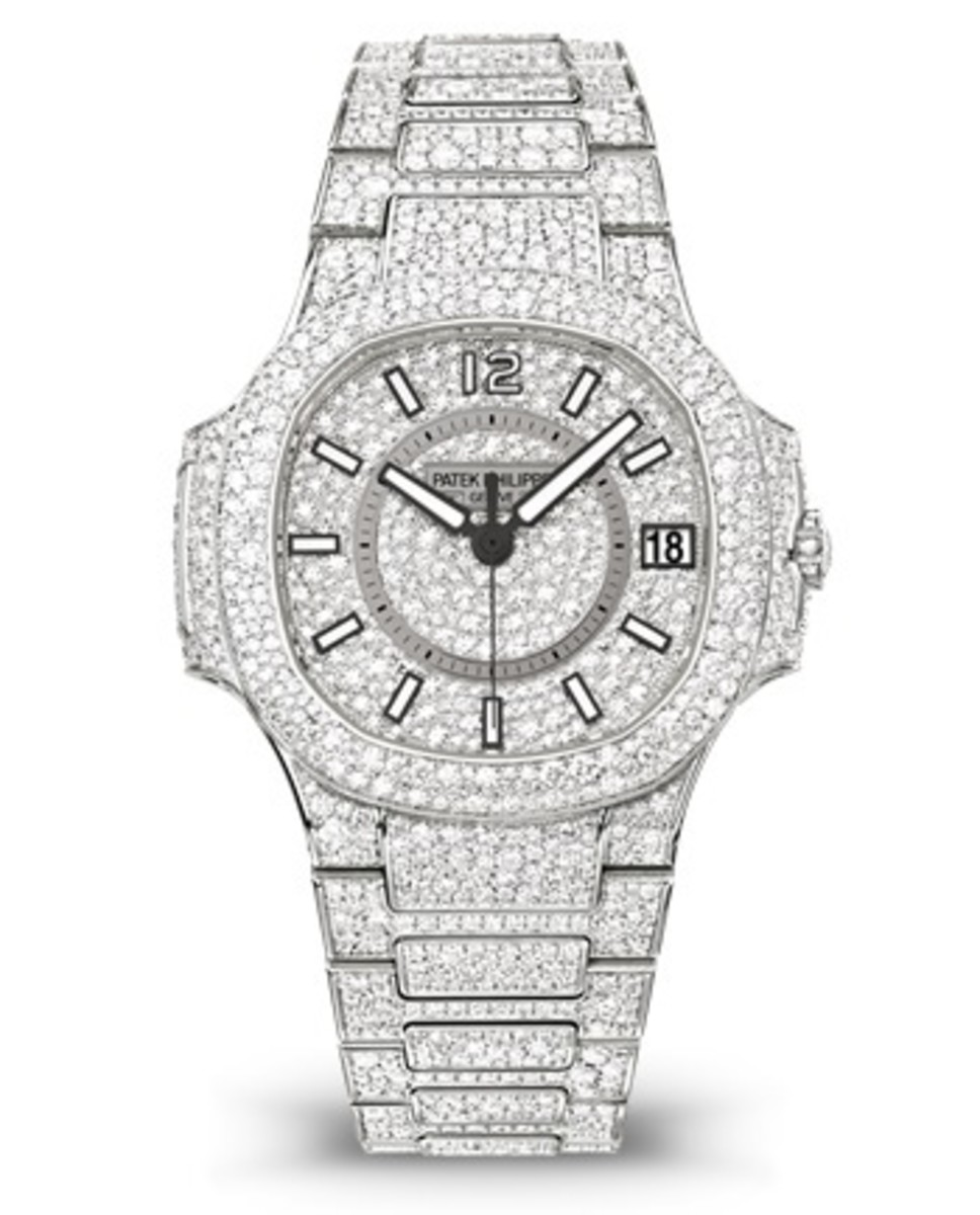 P Philippe Watch Patek Philippe Nautilus Fully Paved Diamonds Women S Watch 7021 1g 001