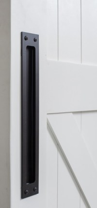 Modern Flush Barn Door Pull | Rustica Hardware