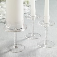 Personalized Glass Unity Candle Holder Set