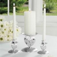Nature's Love Wedding Unity Candle Holder Set