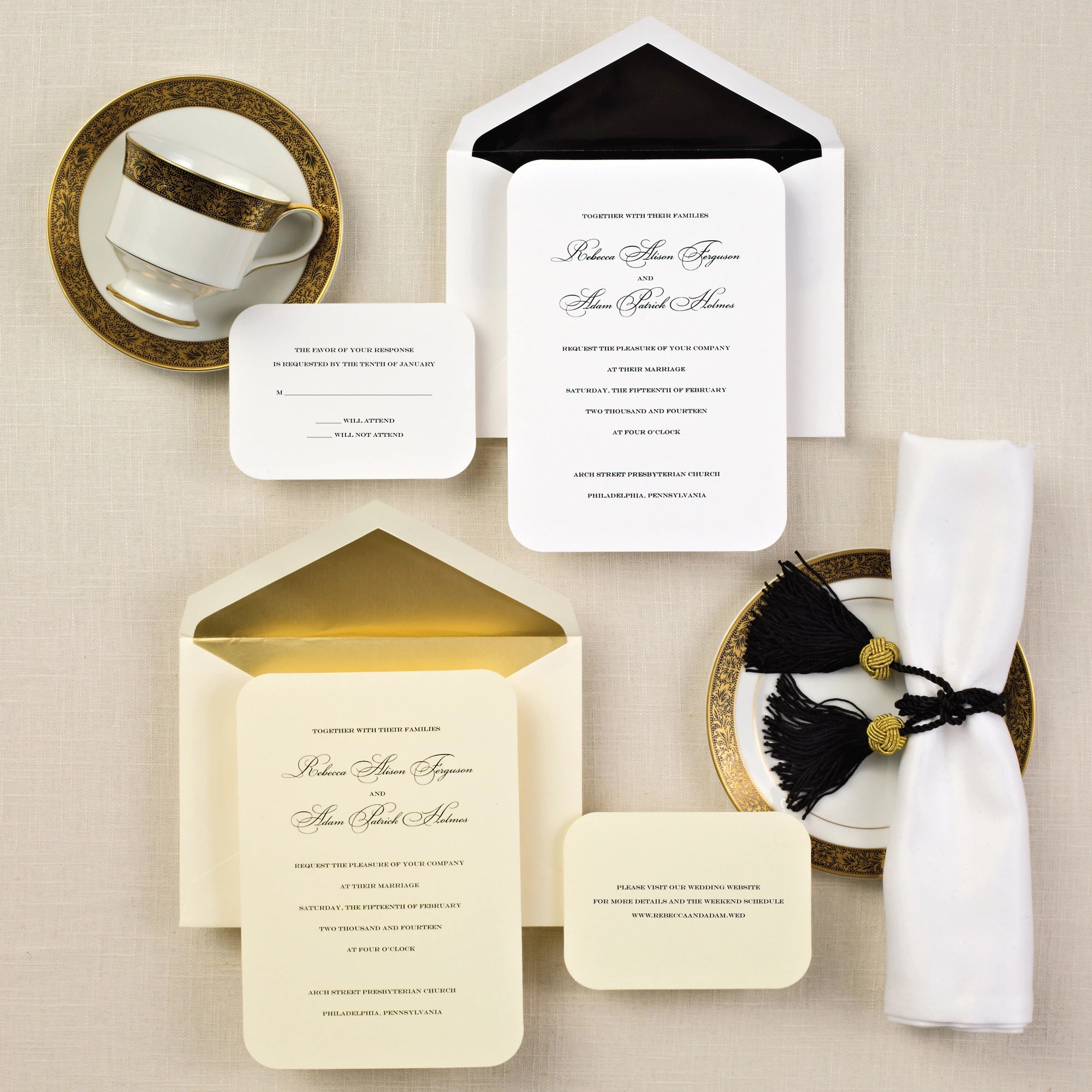 Simple Elegance Wedding Invitation wedding invitations with pictures