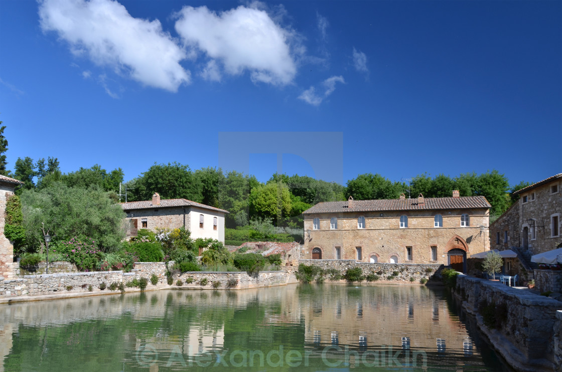 Bagno Vignoni Free Thermal Baths Ancient Thermal Bath In Bagno Vignoni Italy License Download