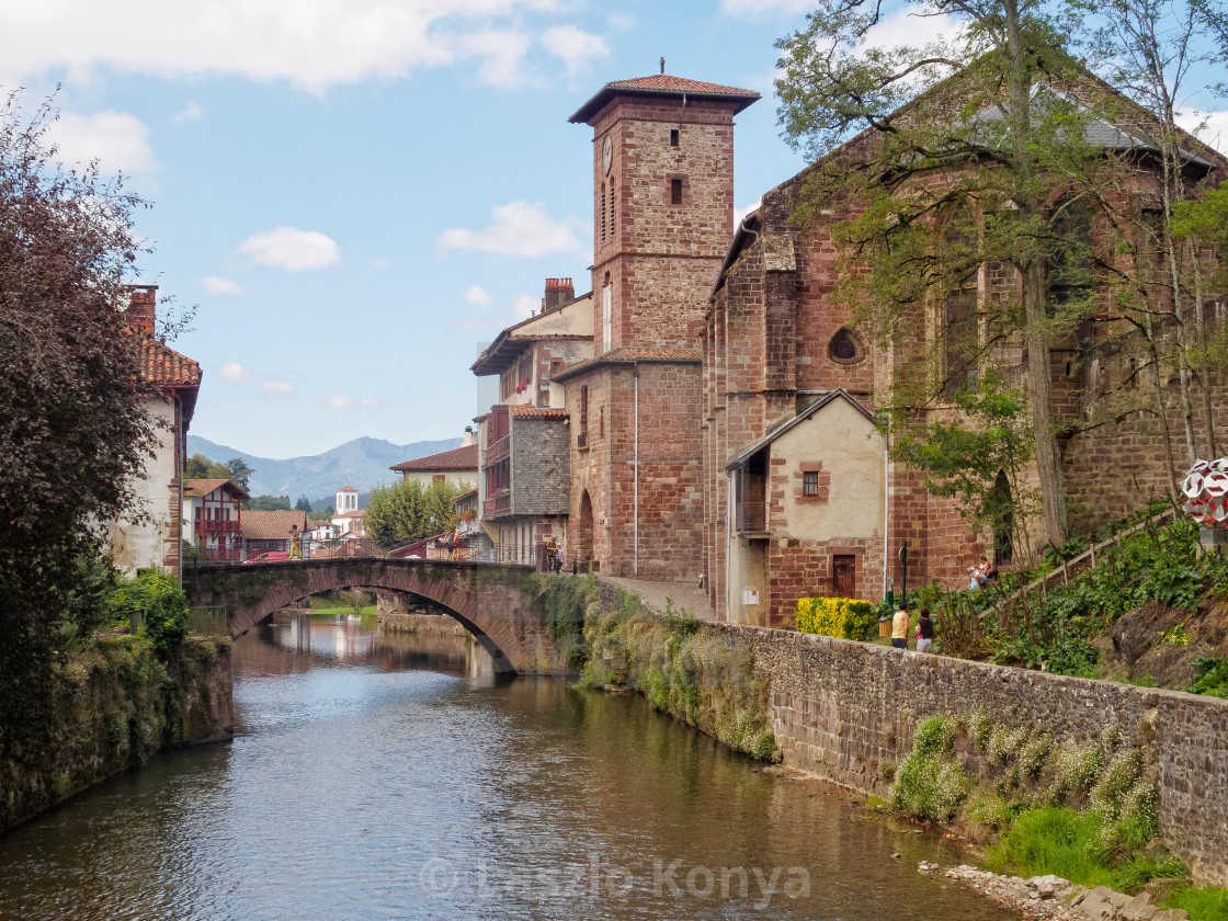 Saint Jean Pied De Port Nive River Saint Jean Pied De Port License Download Or Print