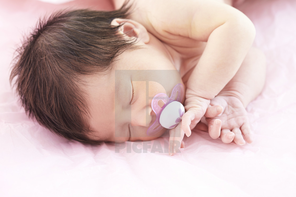 Newborn Babies For Dummies Newborn Baby Girl With Dummy In Mouth License Download Or