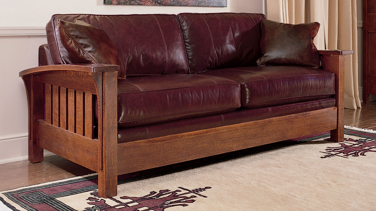 Brown Real Leather Couch Stickley Orchard Street Leather Sofa