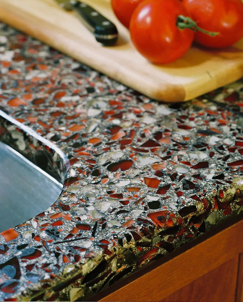Vetrazzo Countertop Eco Friendly Stunning Recycled Glass
