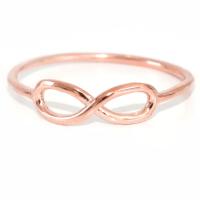 Rose gold infinity ring | hardtofind.