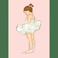 Children's ballerina wall art print | hardtofind.