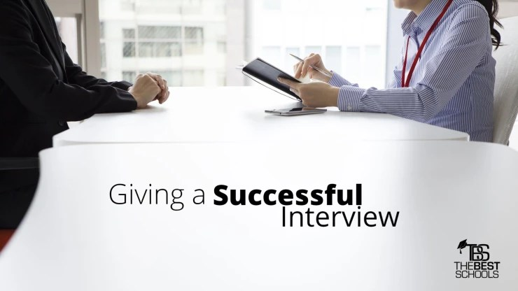 Giving a Successful Interview