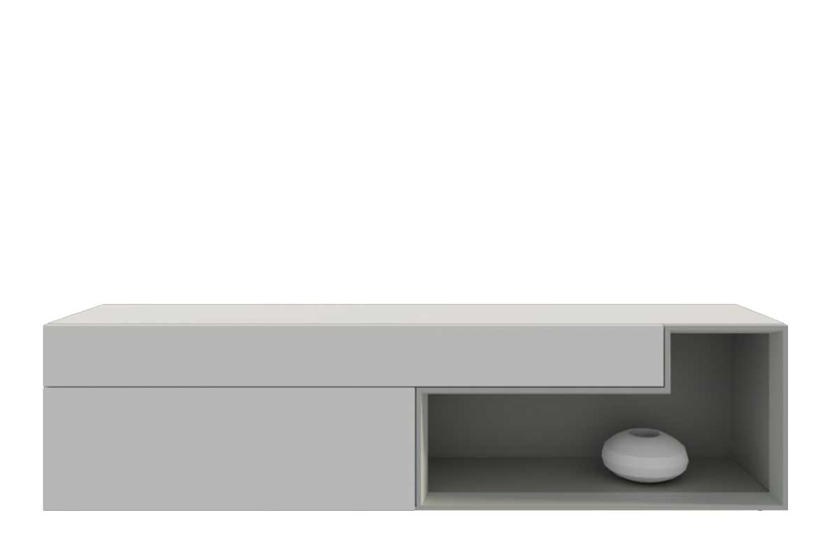 Lowboard Weiß Eiche Hängend Low Board Elegant Vicenza Lowboard Tv Stand Two Doors Two Drawers