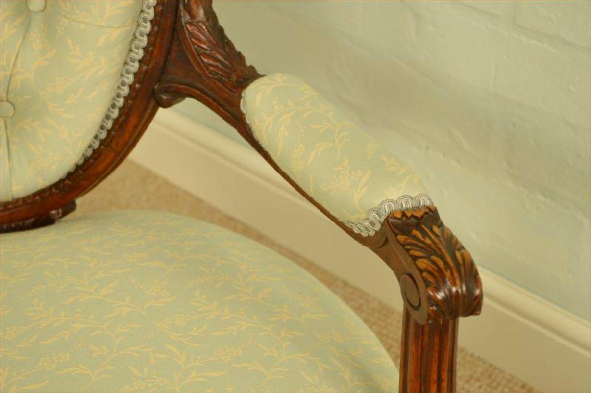 Fine Quality Louis Xiv Style Antique Ladies Arm Chair