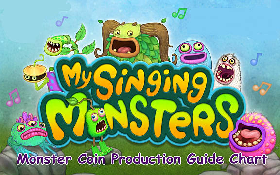 My Singing Monsters - Monster Coin Production Guide Chart My