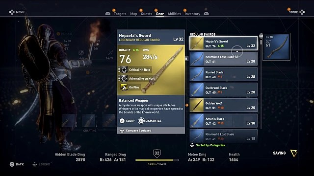Assassin\u0027s Creed Origins Guide All Rare and Legendary Weapons